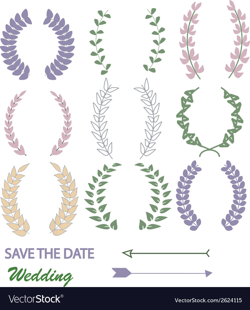 Mixed laurel wreaths vector | Price: 1 Credit (USD $1)