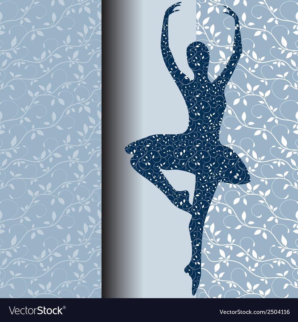 Ballet design card vector | Price: 1 Credit (USD $1)