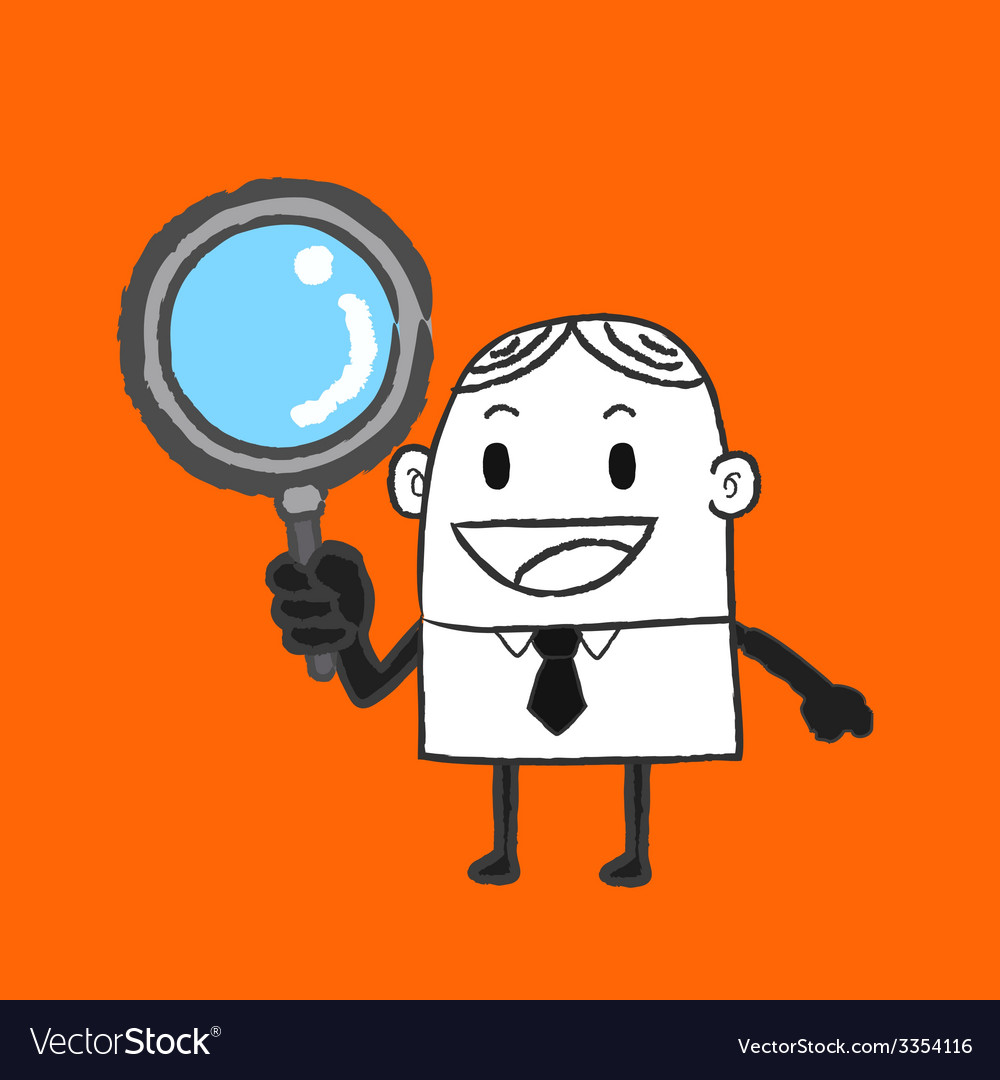 Business man search vector | Price: 1 Credit (USD $1)
