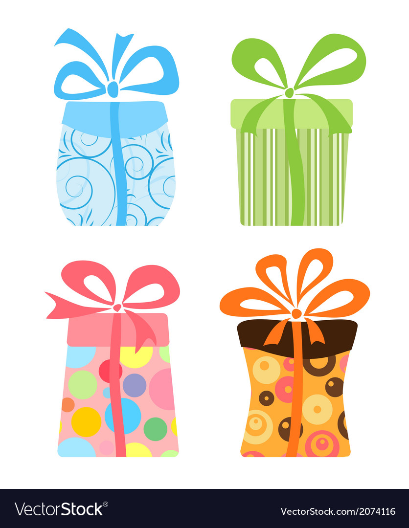 Cute gift boxes collection vector | Price: 1 Credit (USD $1)