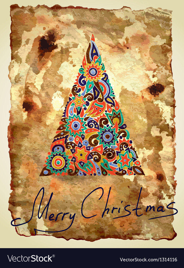 Dirty ornamental christmas design vector | Price: 1 Credit (USD $1)