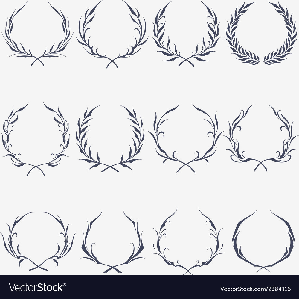 Floral wreath ornaments vector | Price: 1 Credit (USD $1)