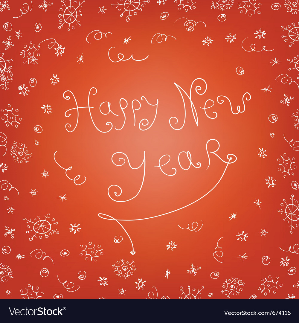 Handwritten new year vector | Price: 1 Credit (USD $1)