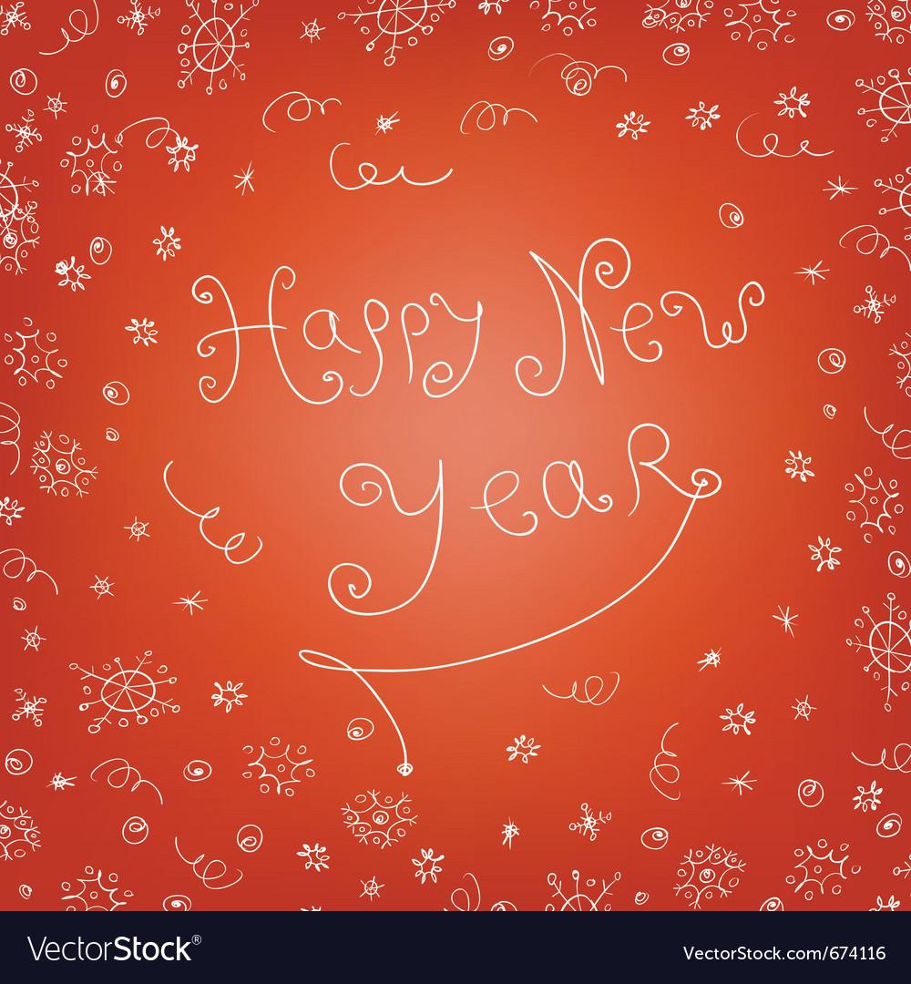 Handwritten new year vector | Price: 1 Credit (USD $1)