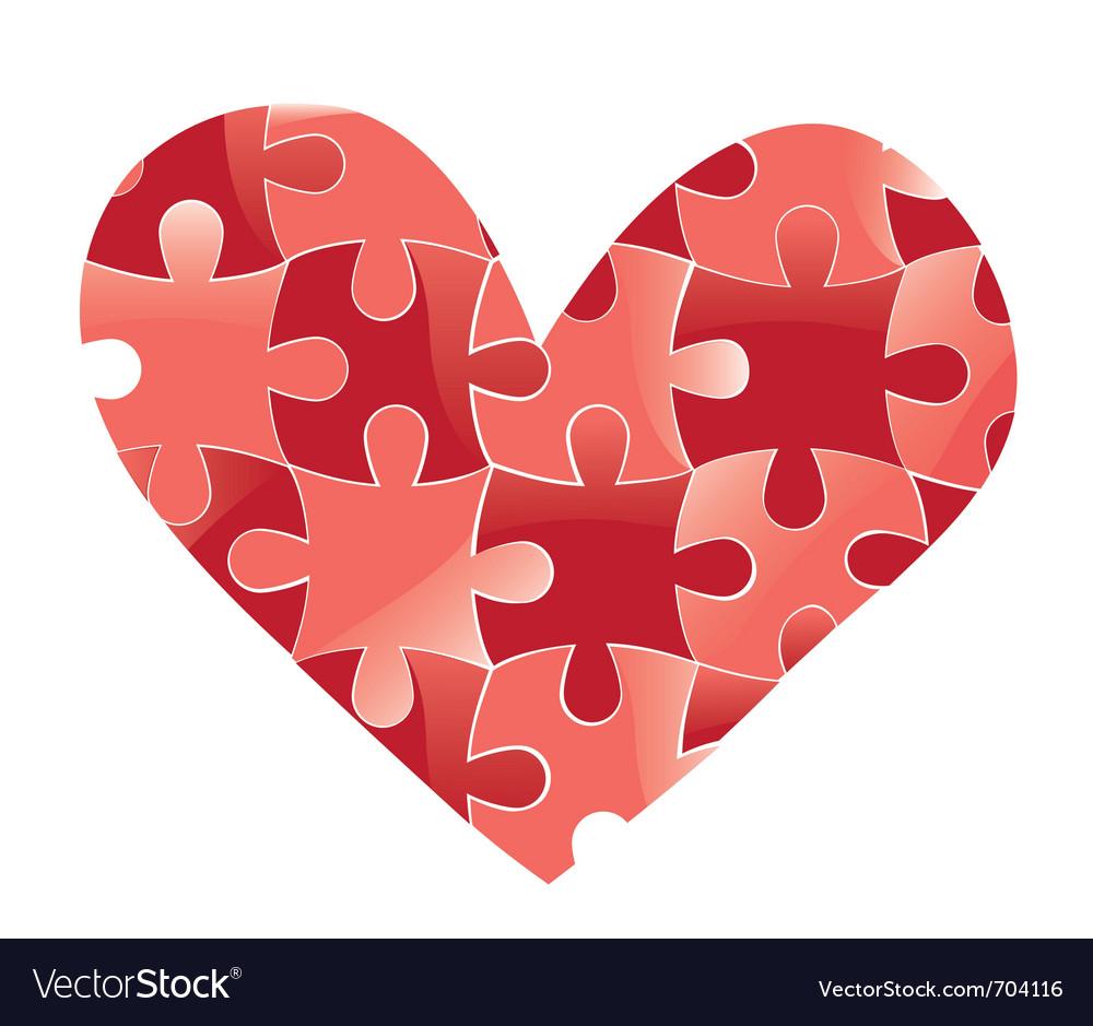 Heart puzzle vector   Price: 1 Credit (USD $1)