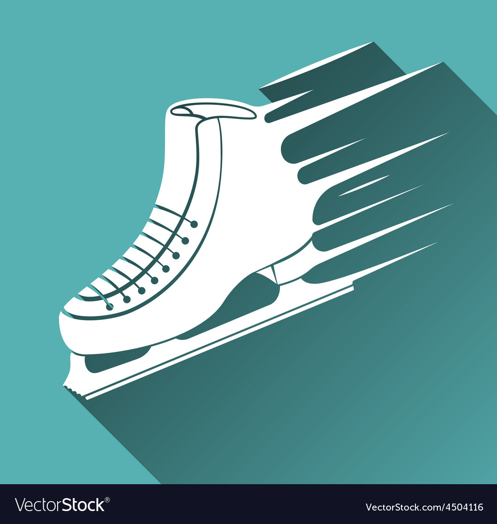 Ice skate icon long shadow vector | Price: 1 Credit (USD $1)
