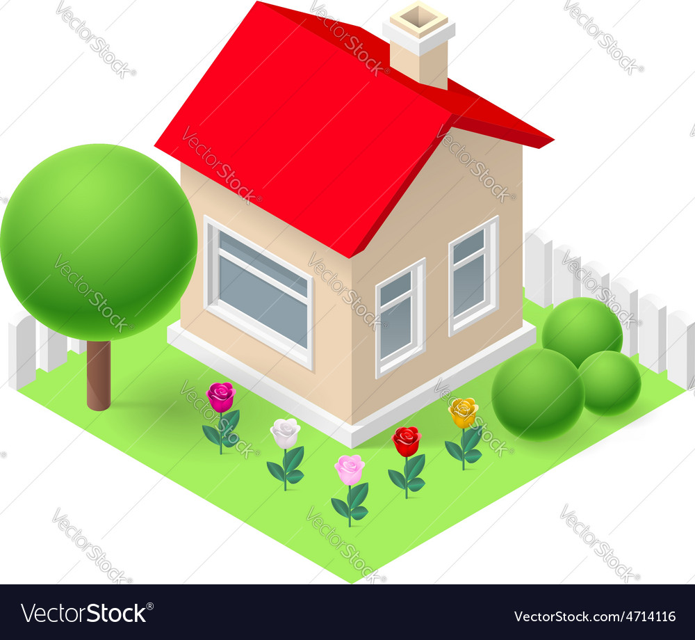 Isometric home vector   Price: 1 Credit (USD $1)