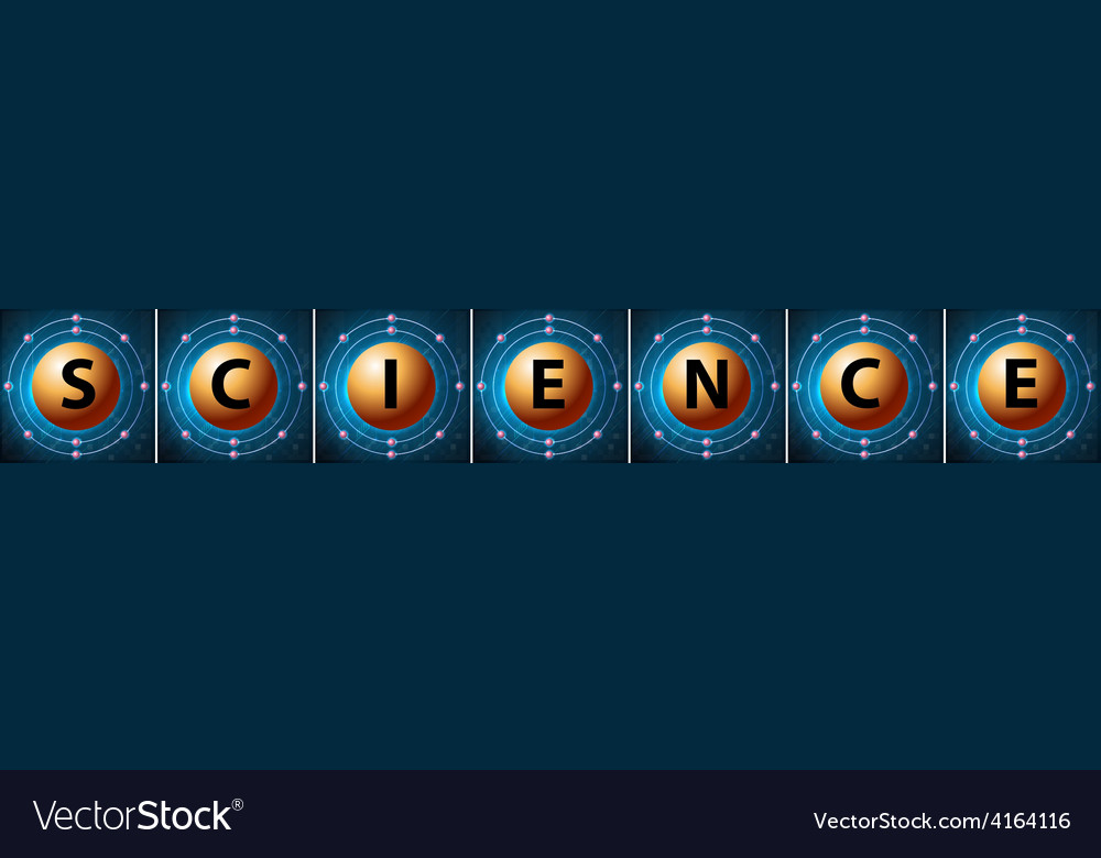 Letters forming the word science vector | Price: 1 Credit (USD $1)