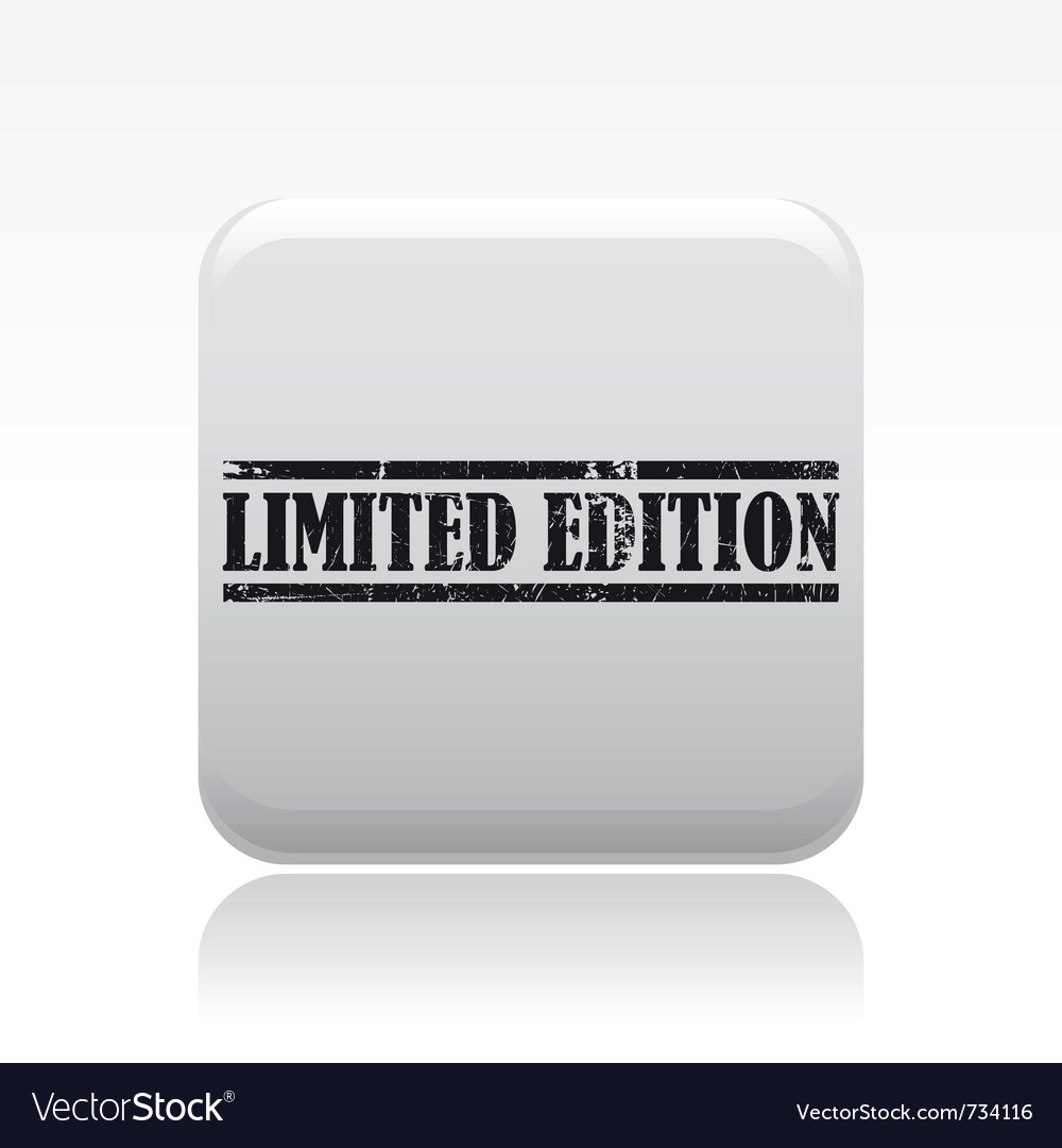 Limited edition icon vector | Price: 1 Credit (USD $1)