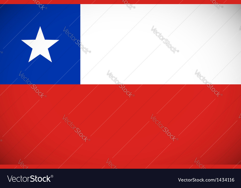 National flag of chile vector | Price: 1 Credit (USD $1)