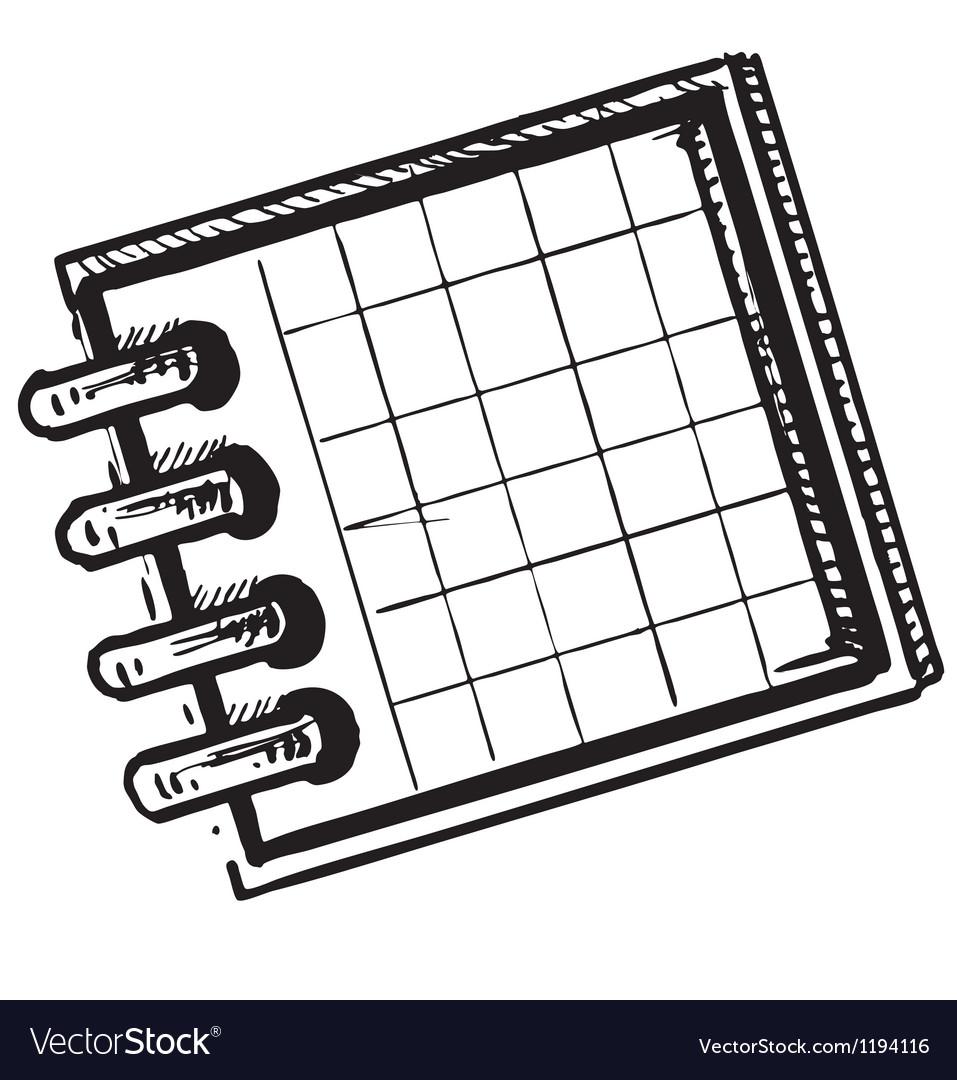 Organizer or planner vector | Price: 1 Credit (USD $1)