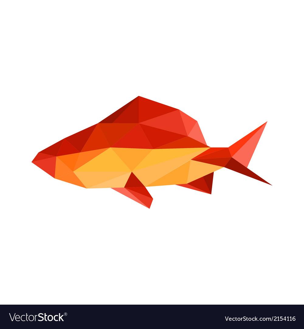 Origami fish vector | Price: 1 Credit (USD $1)