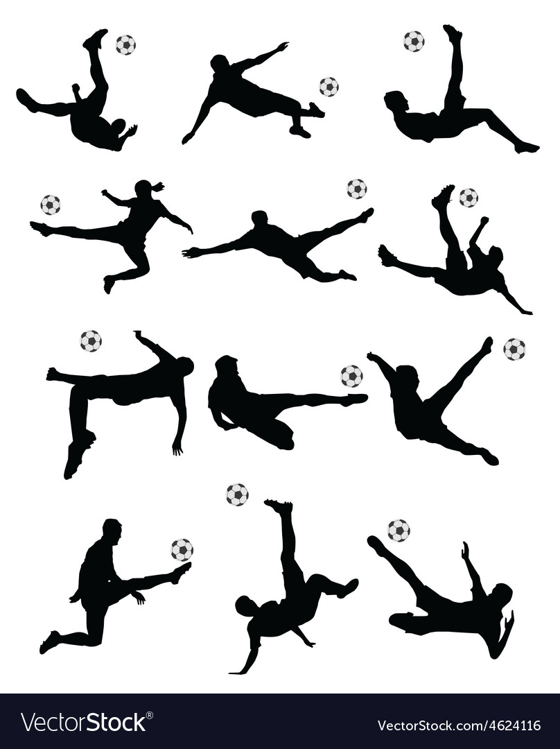 Soccer football player super kick vector | Price: 1 Credit (USD $1)