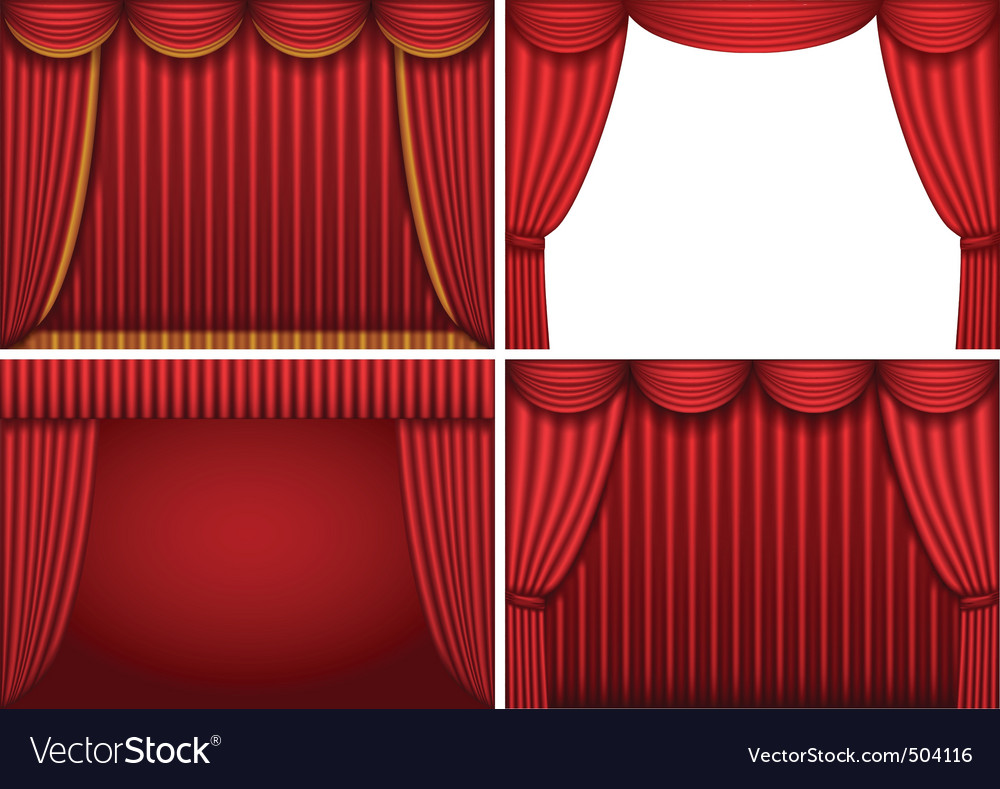 Theater curtains vector | Price: 1 Credit (USD $1)