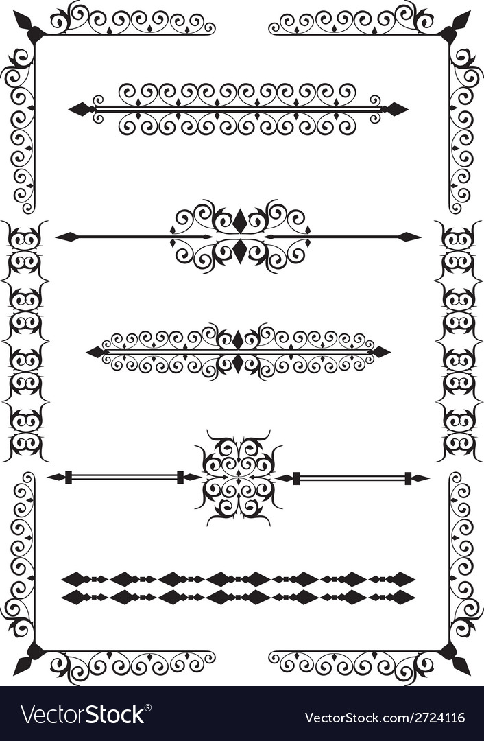 Victorian scrolls vector | Price: 1 Credit (USD $1)