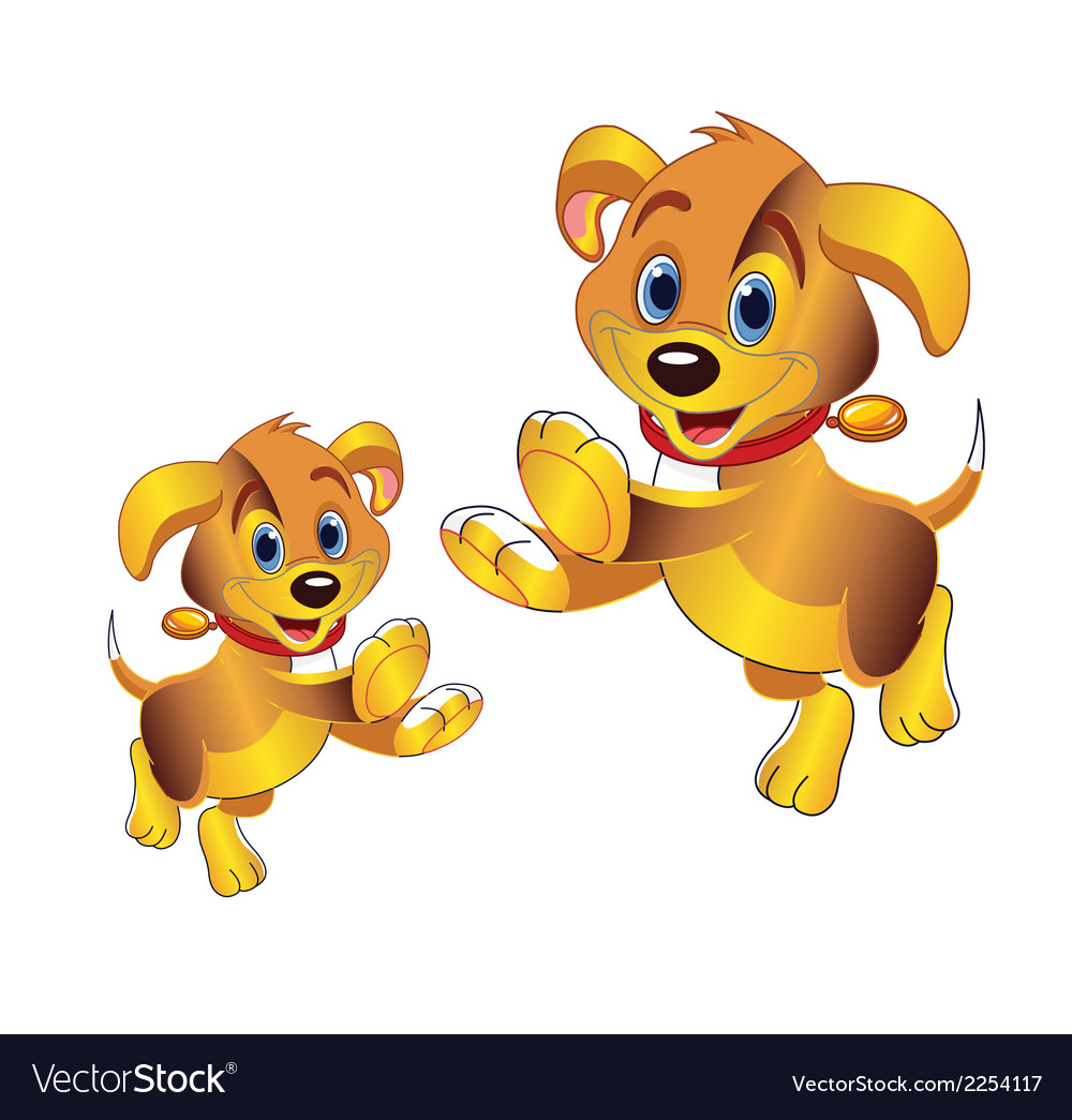 3d cartoon dog clipart vector | Price: 1 Credit (USD $1)