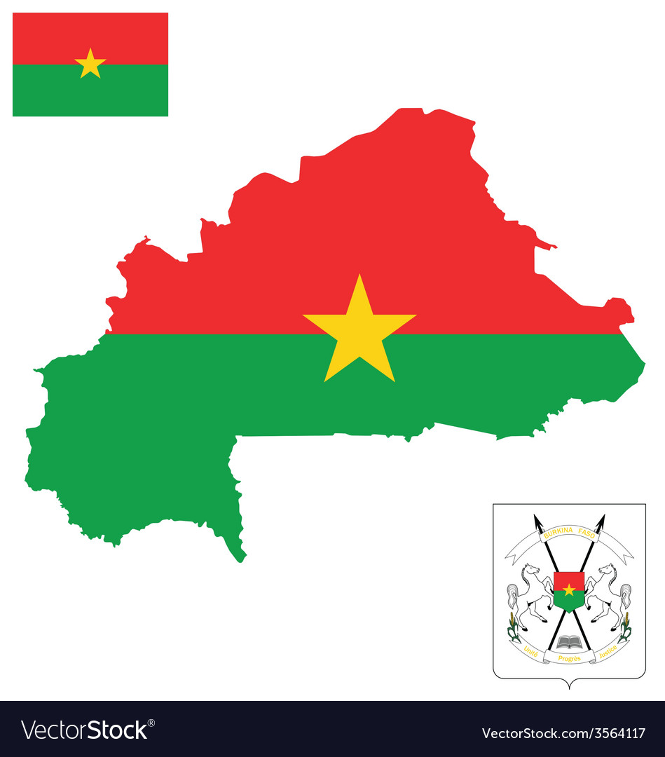 Burkina faso flag vector | Price: 1 Credit (USD $1)