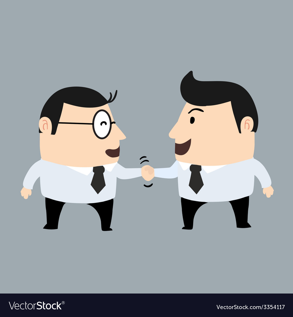Businessman shaking hand vector | Price: 1 Credit (USD $1)