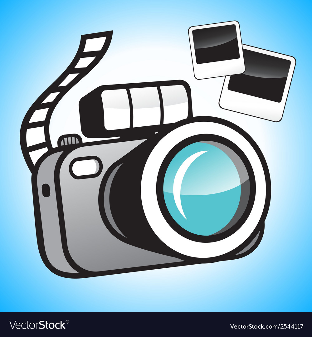 Camera and photos vector | Price: 1 Credit (USD $1)