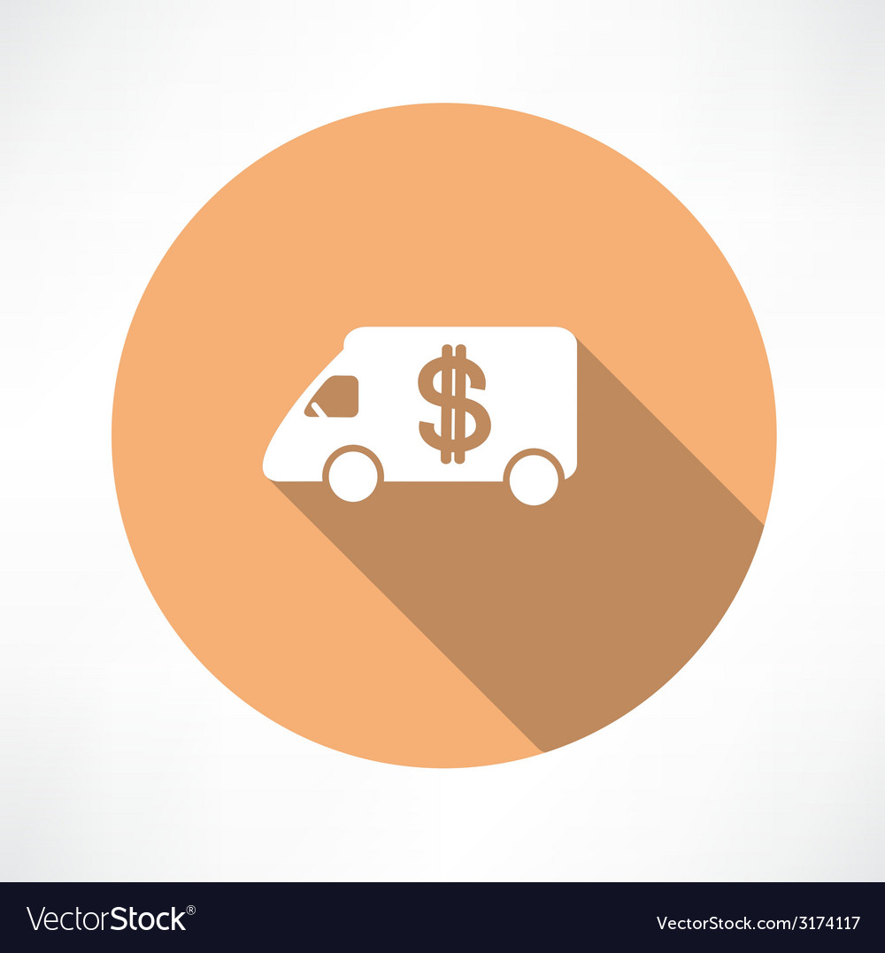 Car with money icon vector | Price: 1 Credit (USD $1)