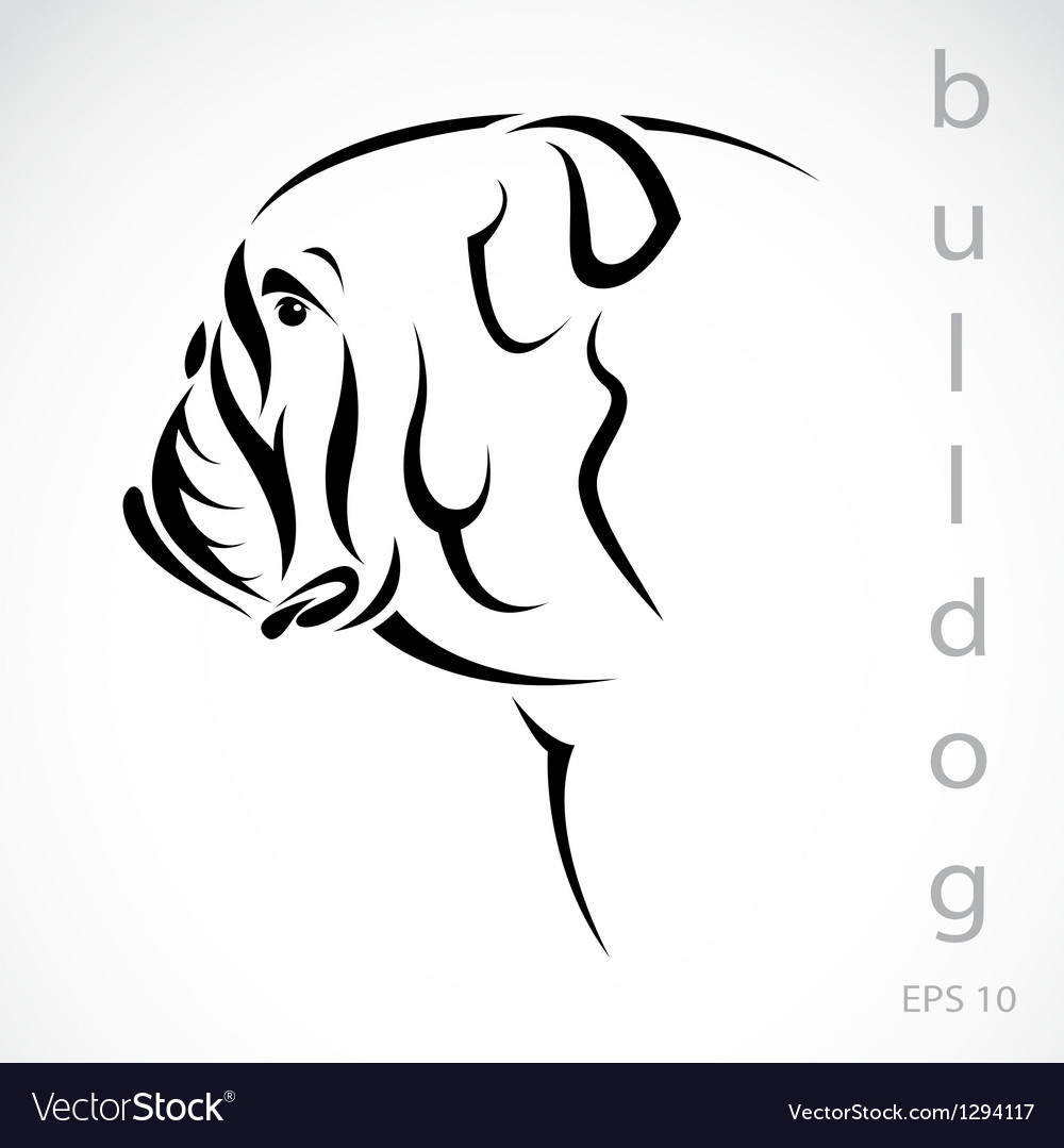 Dog bulldog vector | Price: 1 Credit (USD $1)