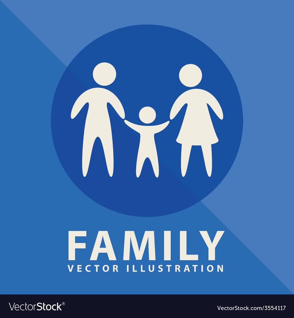 Family label design vector | Price: 1 Credit (USD $1)