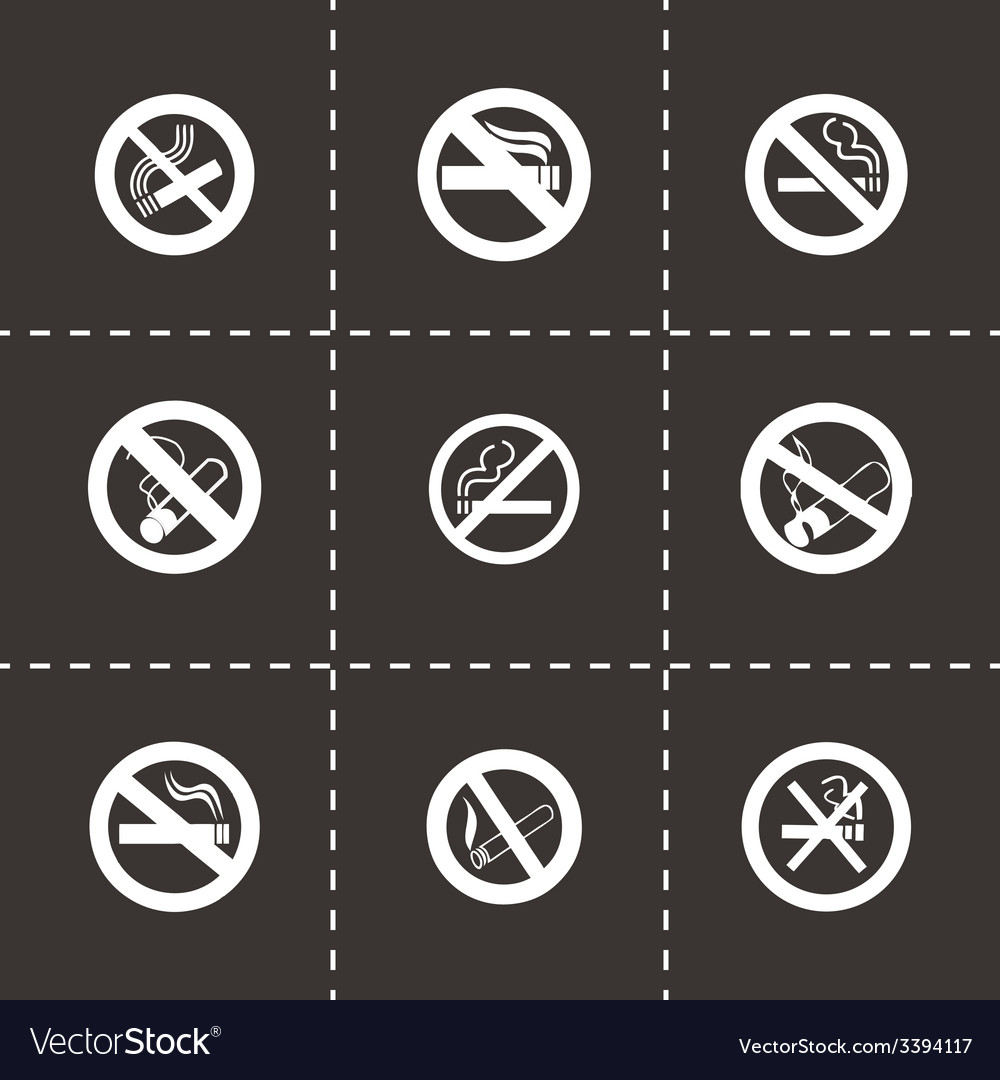 No smoking icon set vector | Price: 1 Credit (USD $1)