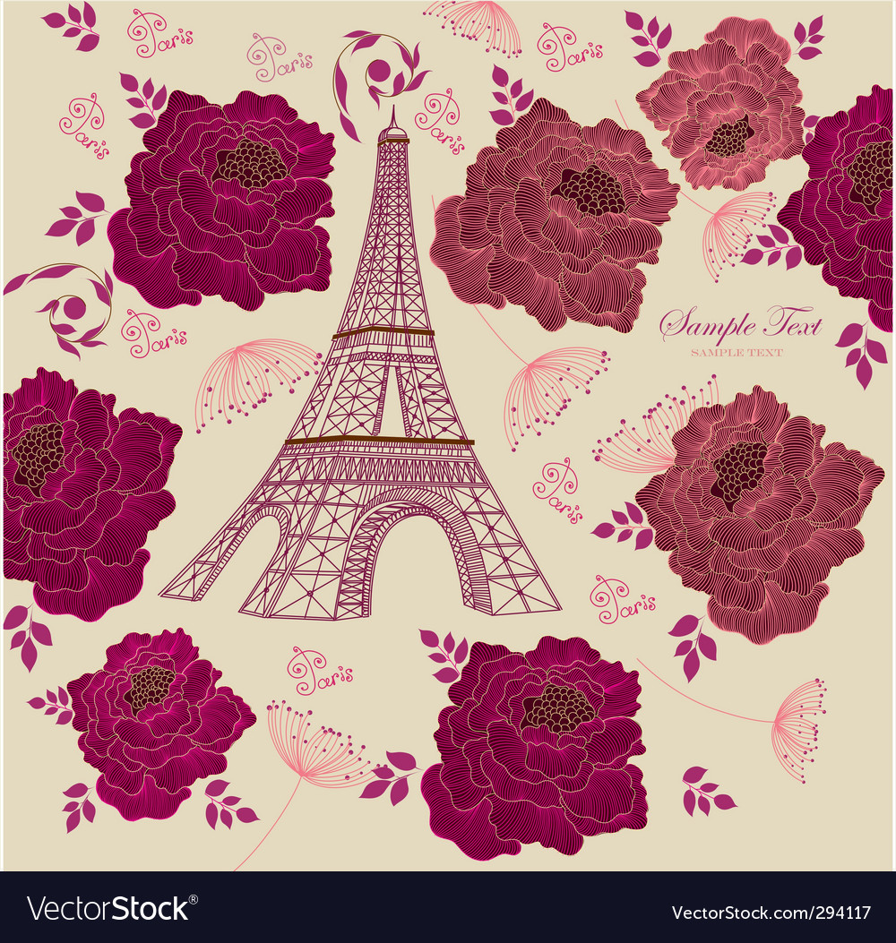 Paris background vector | Price: 3 Credit (USD $3)