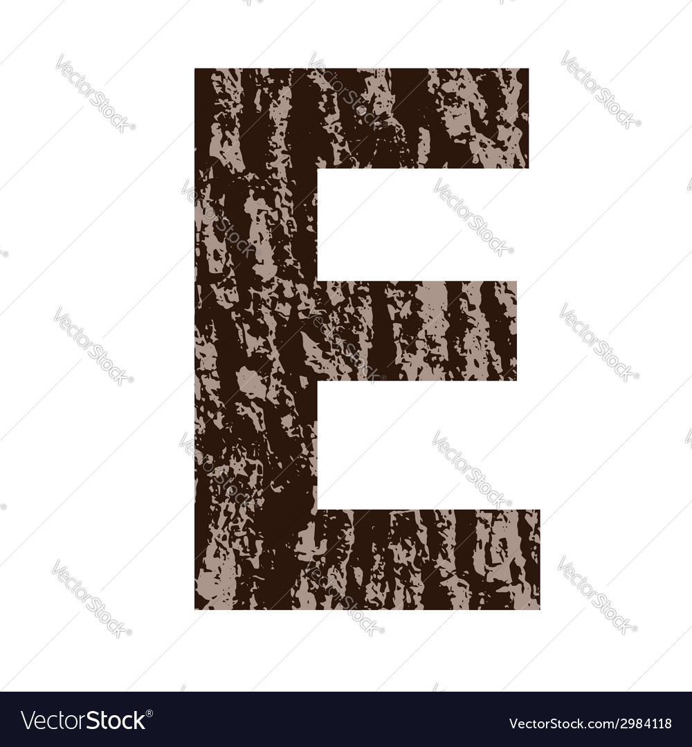 Bark letter e vector | Price: 1 Credit (USD $1)
