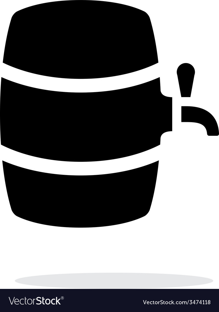 Beer barrel simple icon on white background vector | Price: 1 Credit (USD $1)