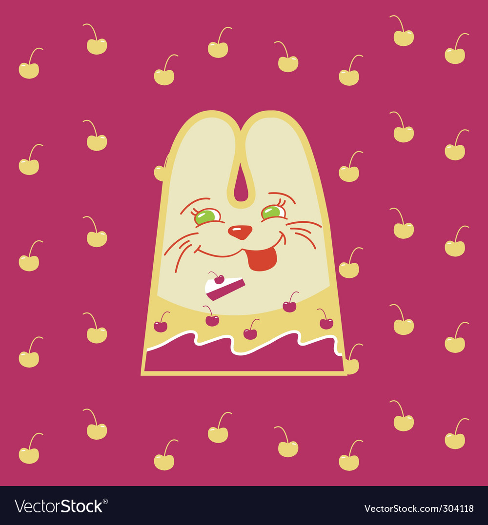Cartoon rabbit vector | Price: 1 Credit (USD $1)