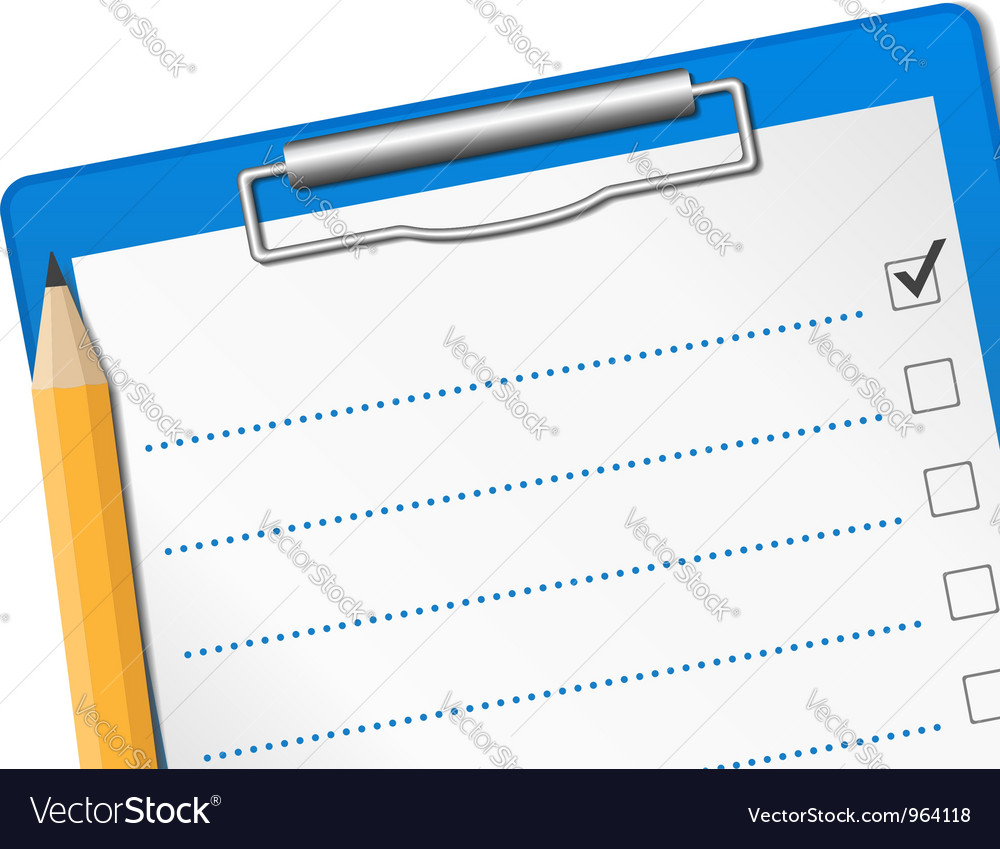 Clipboard with check list vector