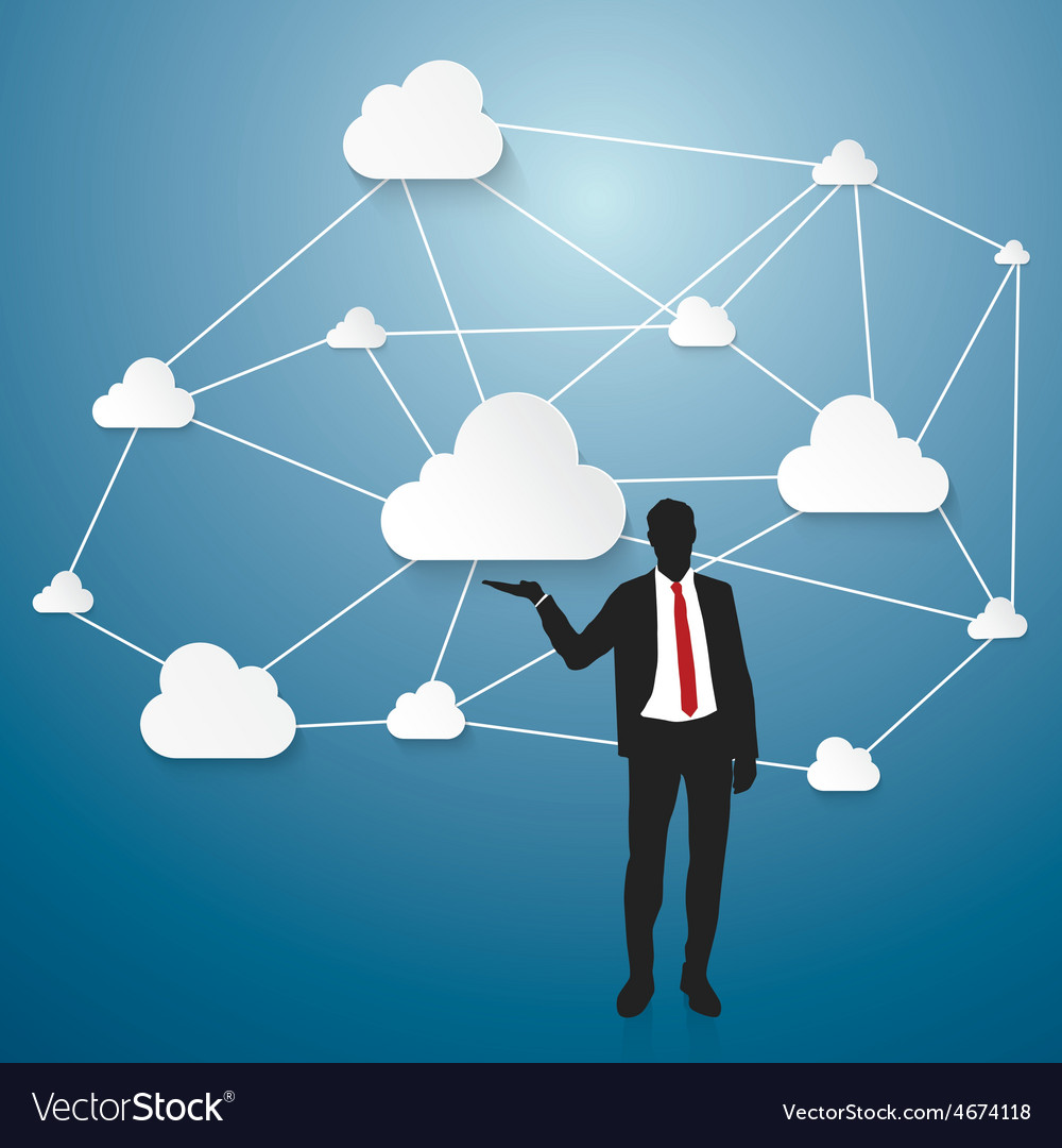 Cloud computing working vector | Price: 1 Credit (USD $1)