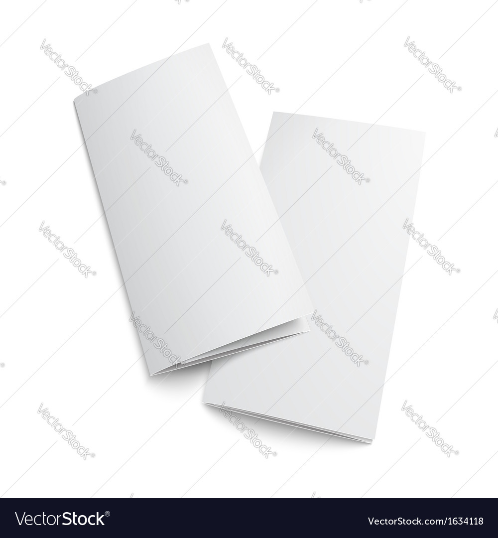 Couple of blank trifold paper brochure vector | Price: 1 Credit (USD $1)