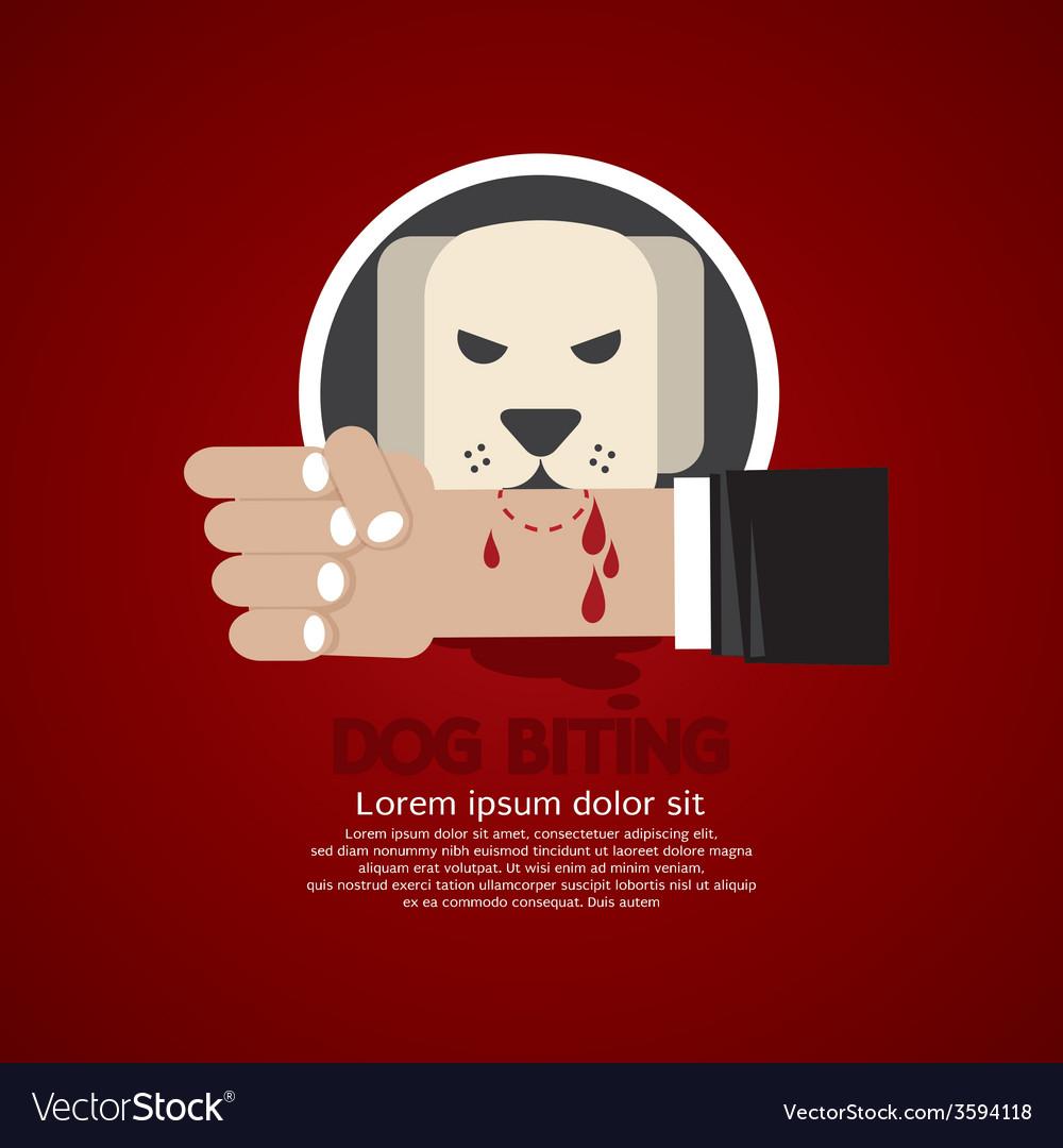 Dog biting on hand vector | Price: 1 Credit (USD $1)