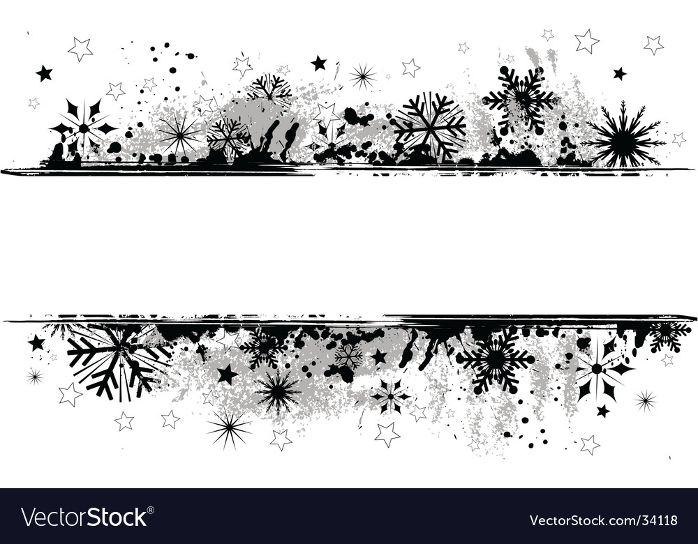 Grunge snowflakes vector | Price: 1 Credit (USD $1)