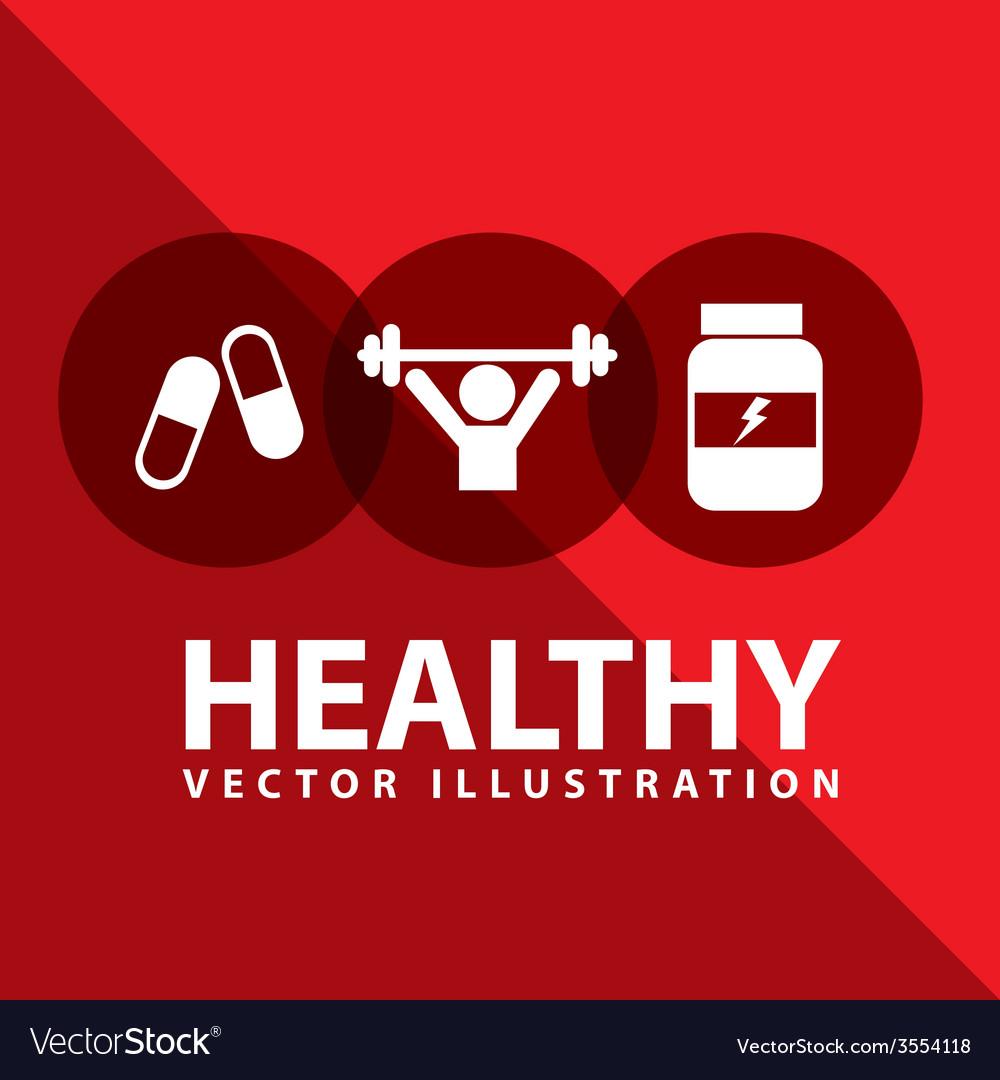 Healthy lifestyle vector | Price: 1 Credit (USD $1)