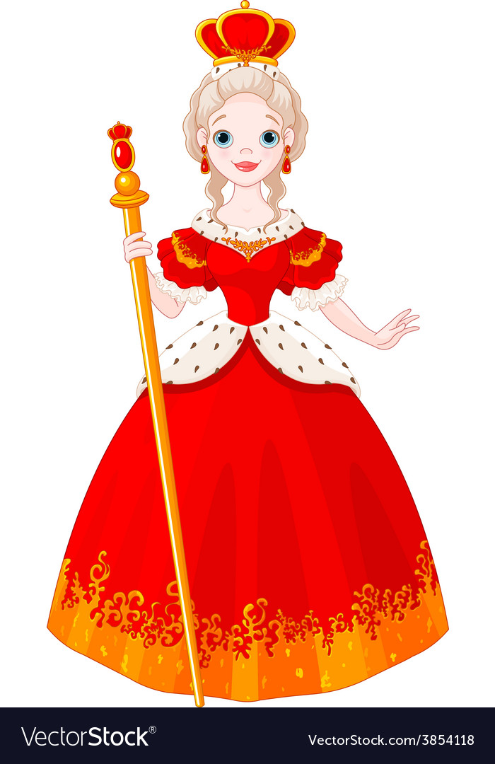 Majestic queen vector | Price: 3 Credit (USD $3)