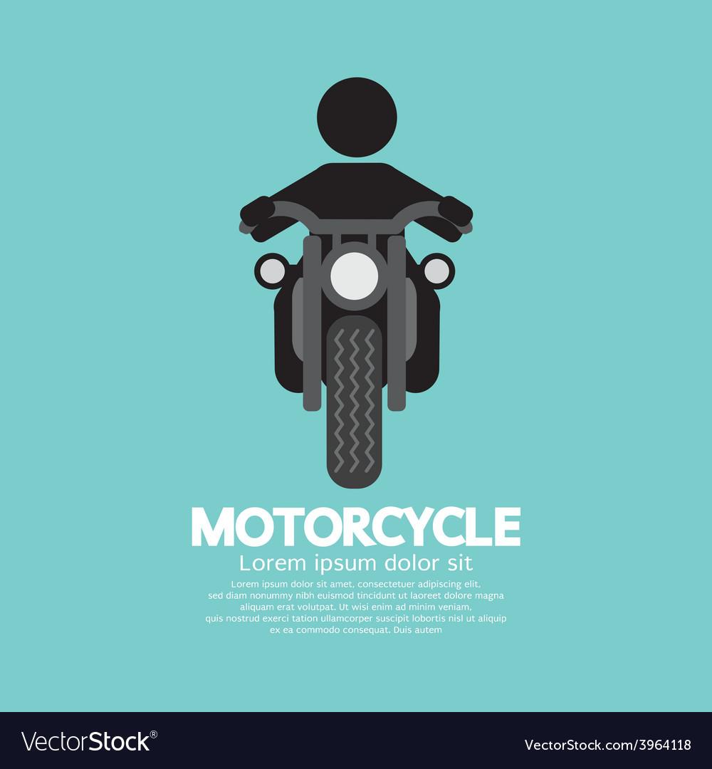 Man riding a motorcycles symbol vector | Price: 1 Credit (USD $1)