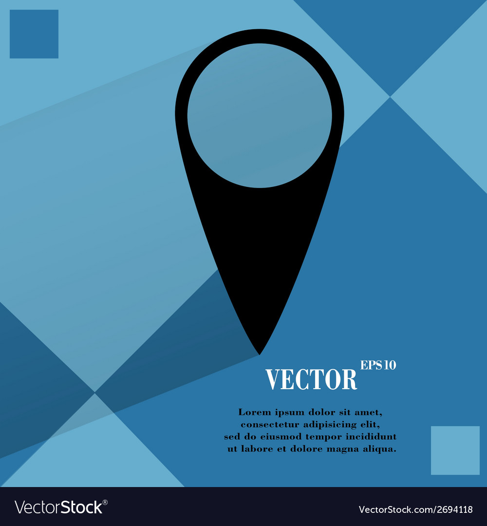 Map pointers flat modern web button on a flat vector | Price: 1 Credit (USD $1)