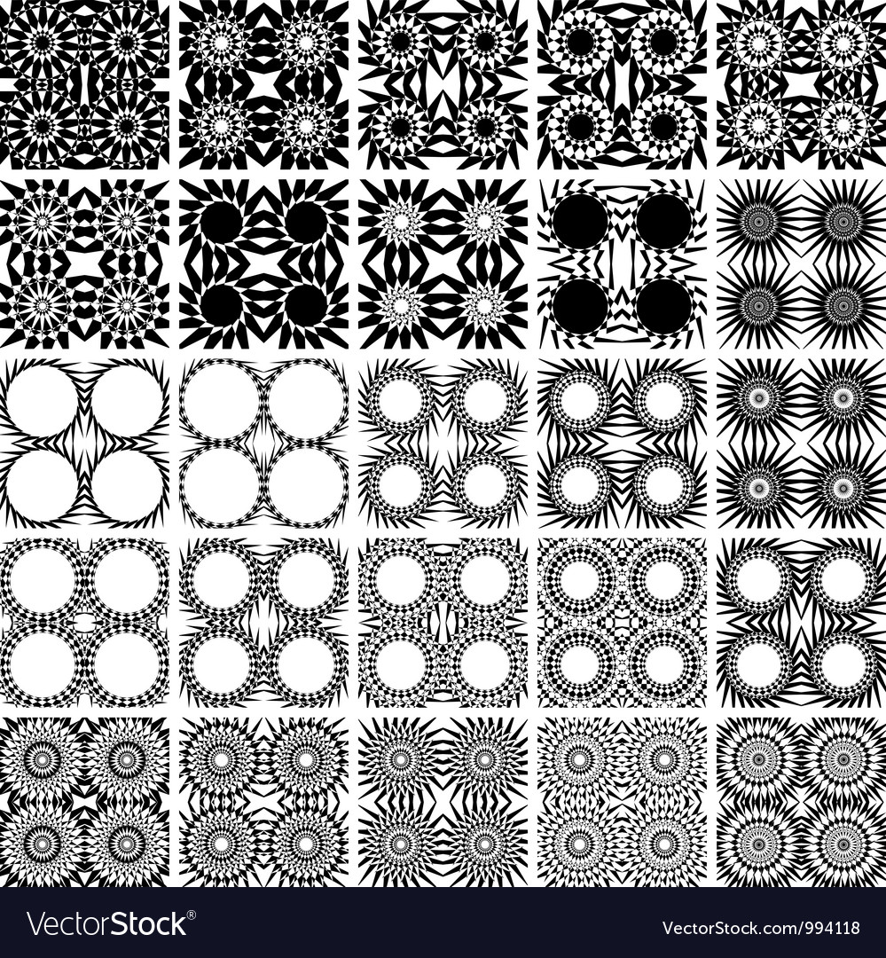 Set of 25 seamless patterns vector | Price: 1 Credit (USD $1)