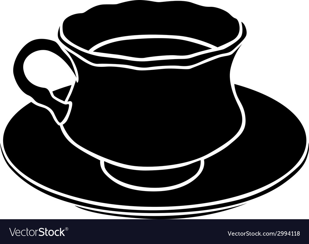 Teacup silhouette vector | Price: 1 Credit (USD $1)