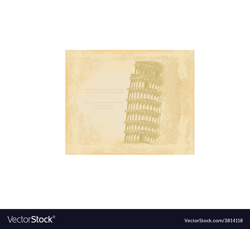 Vintage pisa tower background vector | Price: 1 Credit (USD $1)