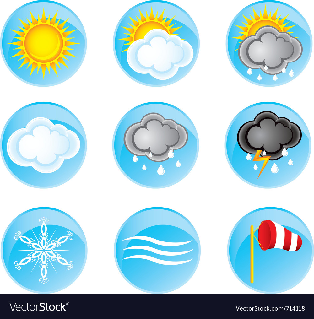 Weather icons vector | Price: 1 Credit (USD $1)