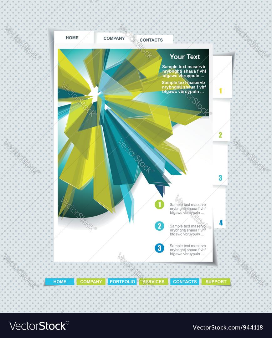 Website template vector   Price: 1 Credit (USD $1)