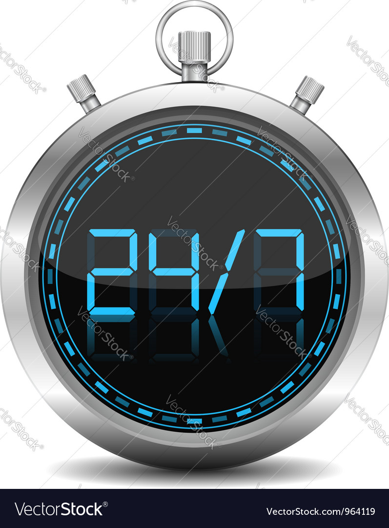 24x7 concept vector | Price: 1 Credit (USD $1)