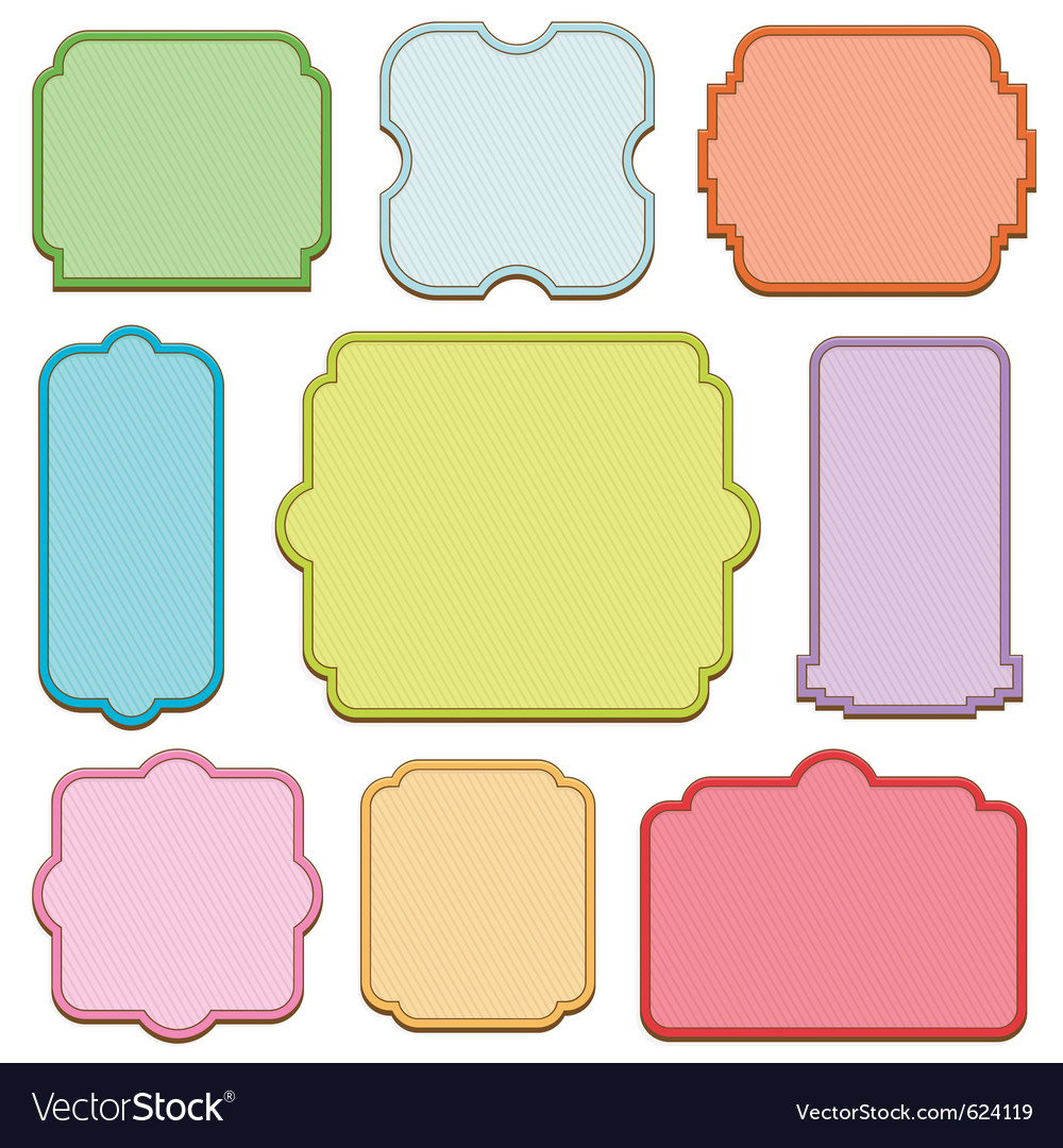 Decorative blank frames vector | Price: 1 Credit (USD $1)