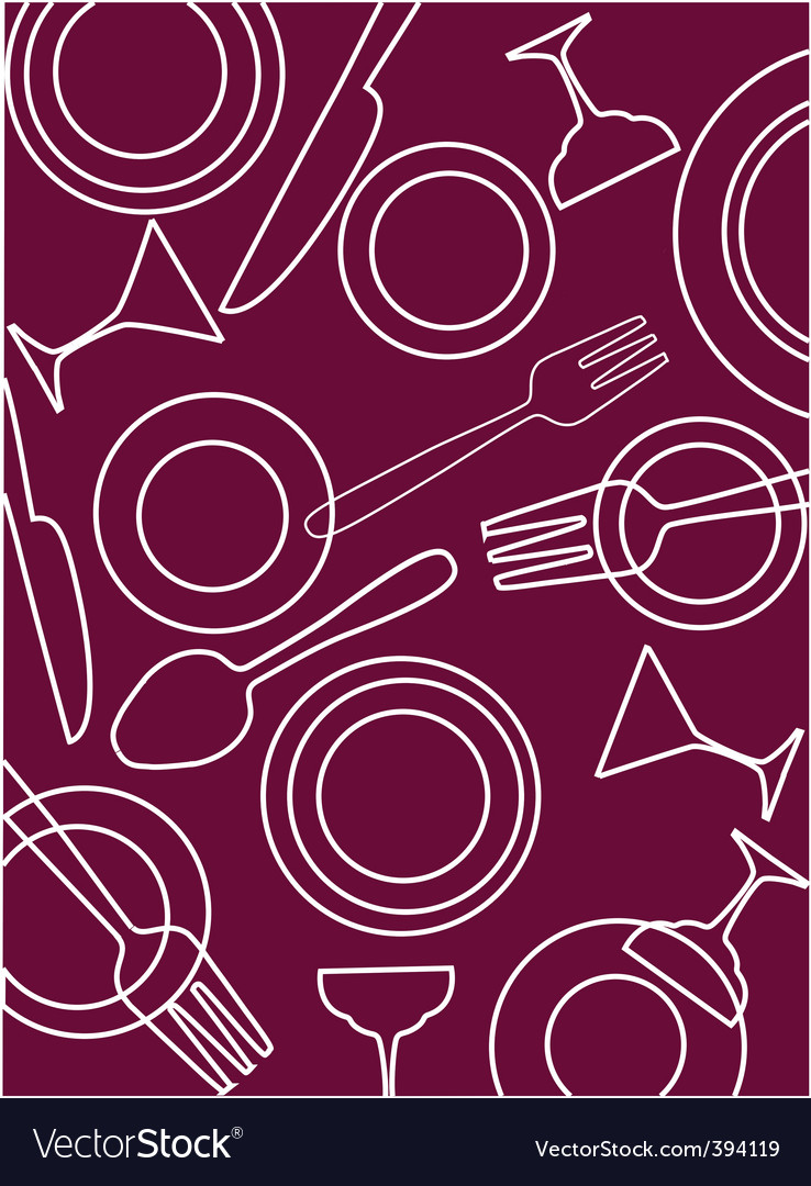 Dining table background vector | Price: 1 Credit (USD $1)