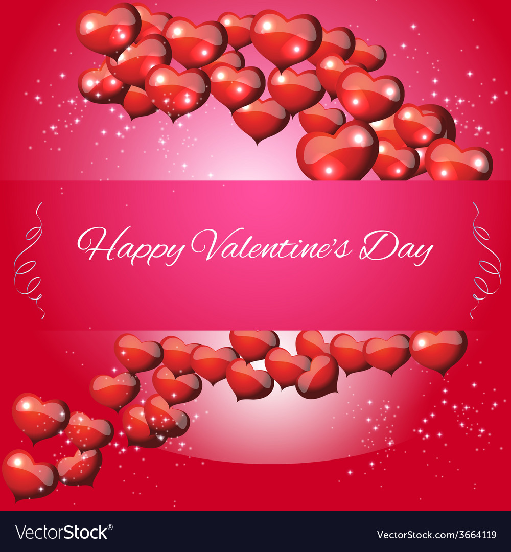 Greeting card valentines day vector | Price: 1 Credit (USD $1)