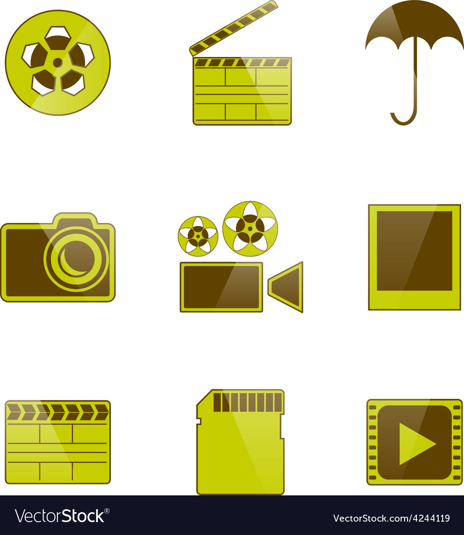 Icons video and photo filming vector | Price: 1 Credit (USD $1)